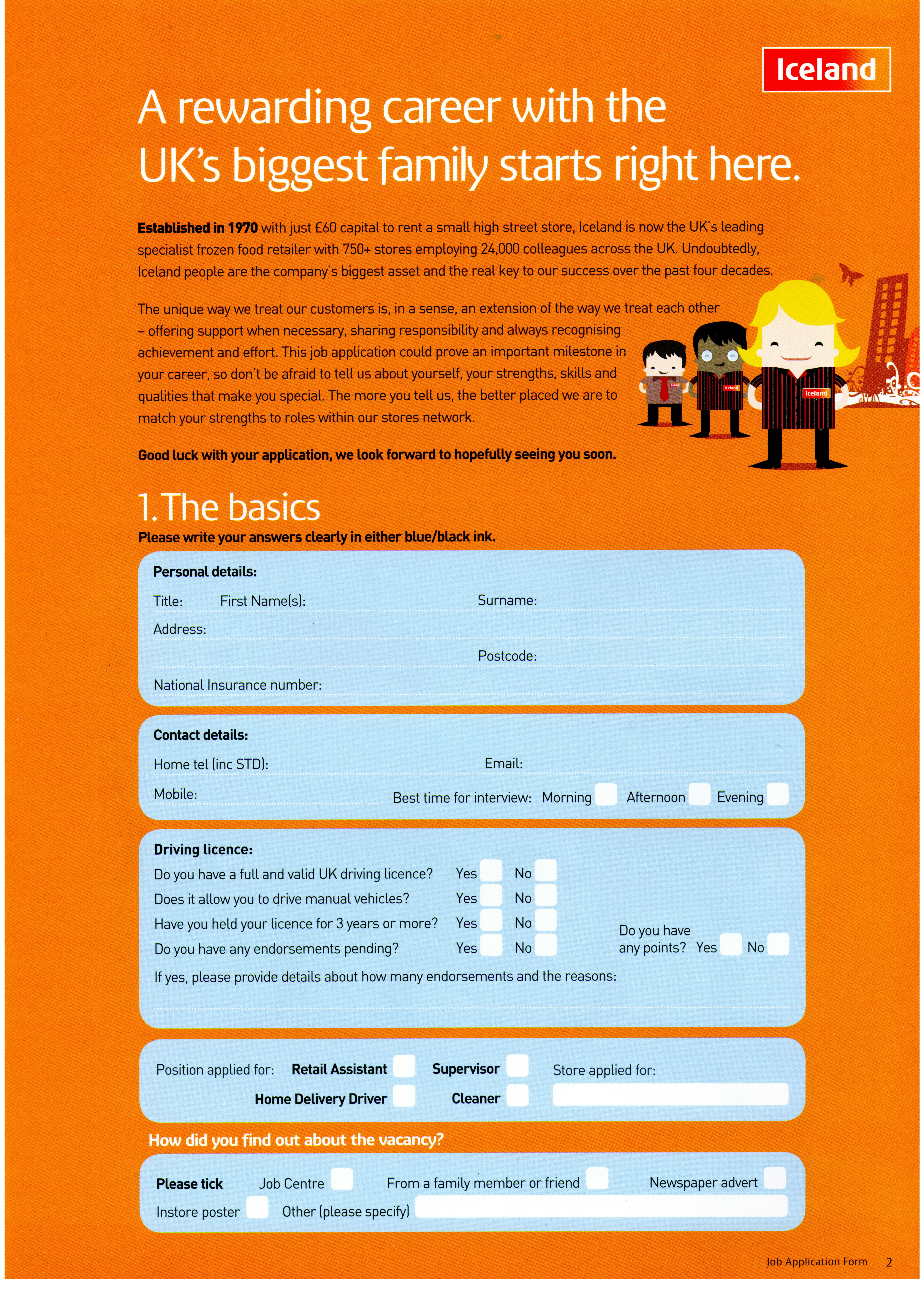Stapleford Iceland Store Application Forms Available Here