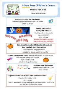 October Half Term 2014 Flyer